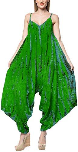 LA LEELA Traje de baño Bikini Traje de baño Aloha Hawaiano Encubrimiento Mono Playsuit Pino Verde
