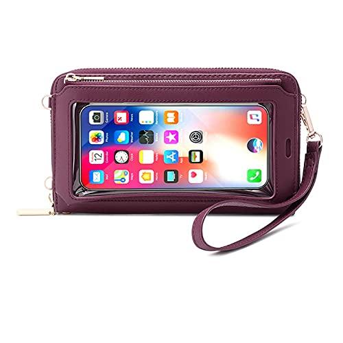 Bolso de la pantalla táctil de las mujeres, bolso del bolso del crossbody del bloqueo del RFID del bolso del bolso del bolso del bolso del bolso del hombro para los teléfonos móviles menos 6.5inch