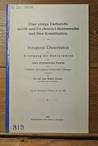 Über einige Farbstoffe der Di- und Tri-chinolyl-Methanreihe und ihre Konstitution.