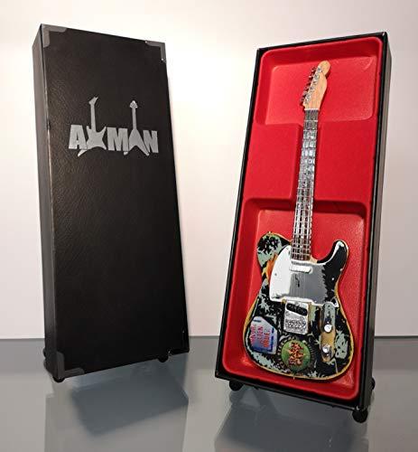 Miniature Guitar replica: Joe Strummer–1966tele chitarra–modello Mini Rock memorabilia replica in miniatura in legno & Free espositore (venditore UK)