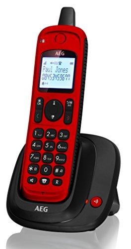AEG Thor Outdoor | DECT Telefon | Schnurloses Festnetztelefon | IP67 Schnurlostelefon | Rot