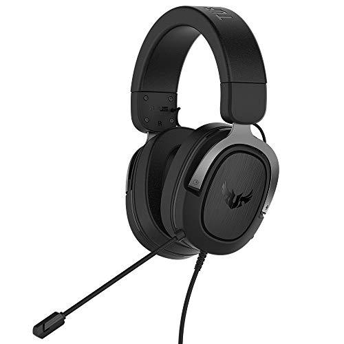 ASUS TUF Gaming H3 Headset (kabelgebunden, virtueller 7.1-Surround-Sound, geeignet für für PC, PS4, Xbox One und Nintendo Switch) schwarz / gun metal