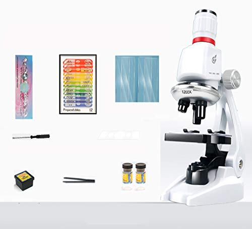 100X 400X 1200X with LED Children's Microscope Student Microscope Science Kit Educational Toy Children Birthday Gift