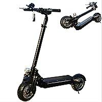 ZGYQGOO Scooter eléctrico, Potente Motor de 2400 W, Rango de 35-100 km hasta 80 km/h, Scooter Plegable portátil con batería de Litio, Peso máximo de Carga de 200 kg
