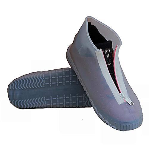 Binwe Copriscarpe Antipioggia in Silicone, Copriscarpe Impermeabili con Protezioni per Scarpe riutilizzabili con Cerniera Antiscivolo per Bambini Uomini Donne all'aperto