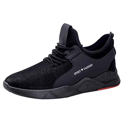 Bluestercool - Zapatillas informales para correr, competición, fitness, moda, transpirable, baloncesto, ciclismo, senderismo, tenis, monopatín, zapatillas deportivas para hombre