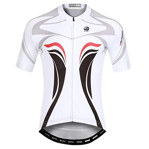 Panegy Maillot Ciclismo Hombre Verano Camisetas Ciclismos Mangas Cortas con Bolsillos Transpirable...