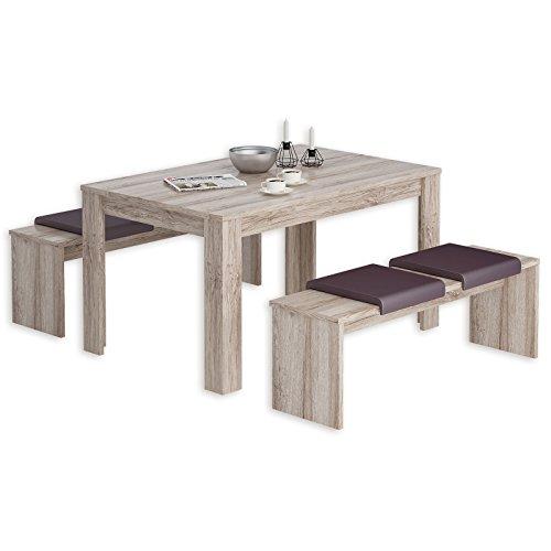 ROLLER 3-teilige Tischgruppe - Sandeiche