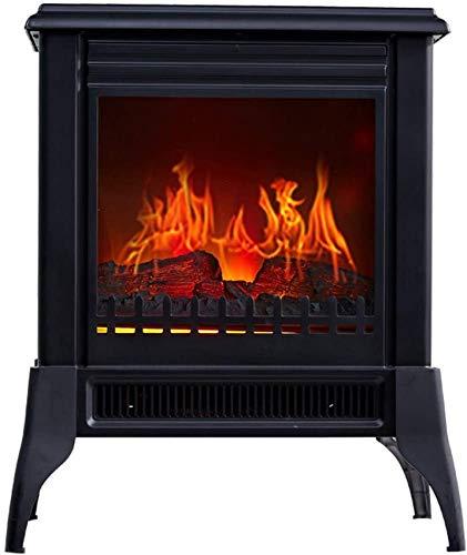 UYZ Calentador de Estufa eléctrico Calentador de Estufa eléctrico con Efecto de Llama Protección contra sobrecalentamiento Carbón Quemado Efecto de Llama Vidrio Plano