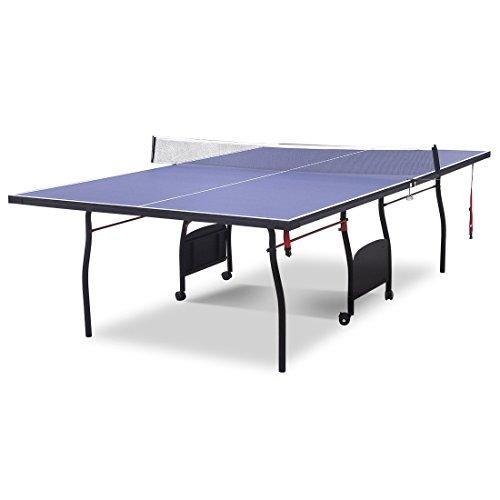 hlc Mesa de Ping Pong, Profesional Plegable y Movible con 9 Pies Formación Completa con...