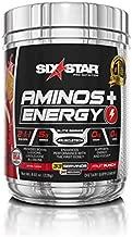 Six Star Aminos Plus Energy, BCAA Powder, Fruit Punch, 33 Servings, 228 grams
