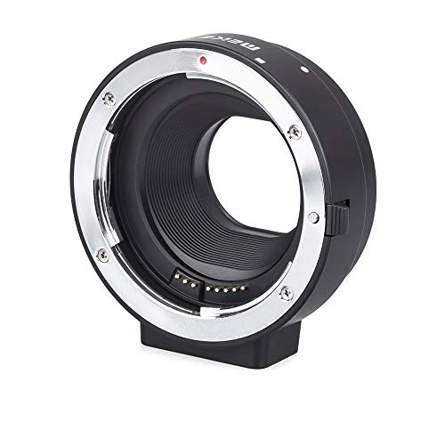 Meike AF Autofokus Adapter, kompatibel mit Canon EF/EF-S Objektiv und EOS M Kamera (MK-C-AF4)