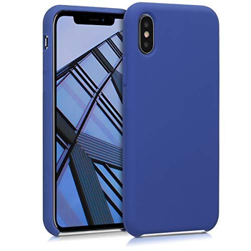 kwmobile Cover Compatibile con Apple iPhone X - Cover Custodia in Silicone TPU - Back Case Protezione Cellulare Pervinca