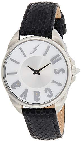 Just Cavalli Damen Datum klassisch Quarz Uhr mit Leder Armband JC1L008L0015