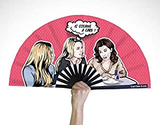 God Glam It Hand Fan – Bamboo Hand Fan for Women and Men – Big Folding Fan – Chinese Fan for Festivals, Parades, and Decor...