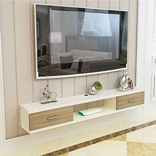 Wandmeubel TV-kast Moderne zwevende TV-staander TV-console meubel TV-kast rek Media Console Entertainment Center voor Blu-Ray-speler videospelconsoles kabelboxen luidsprekers 120 x 24 x 20 cm-C.