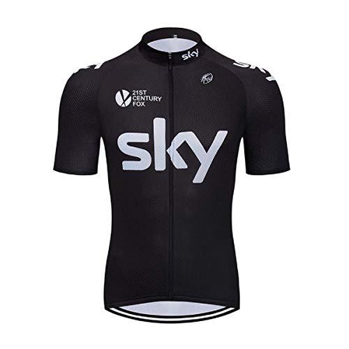SUHINFE Estiva Uomo Sport Abbigliamento Ciclismo Magliette Manica Corta, Sky-Blk, L