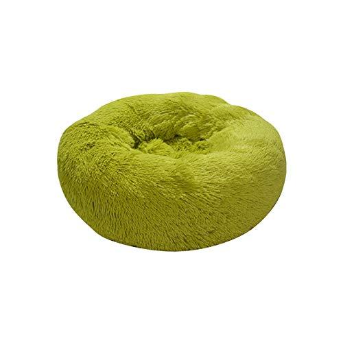 IFRIK Winter pluche hond kennel kat nest kat diepe slaap bank kleur kat nest hond nest, XL 20cm diameter 80cm high, Gras Groen