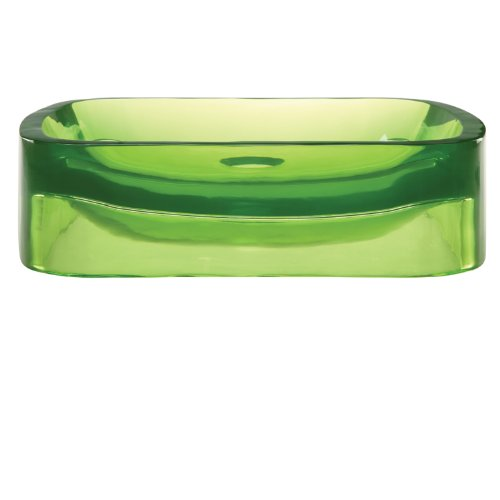 DECOLAV 2802-ABS Lacee Incandescence Rectangular Vessel Sink, Absinthe