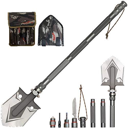 WangLx Folding shovels Pala Plegable, Multifunción Pala Supervivencia De Acero Inoxidable Pala para Cinturón Multi Tool para Exterior Camping Supervivencia, Black