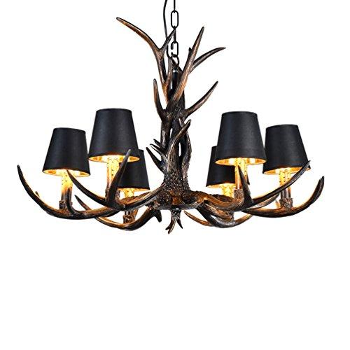SZQ kroonluchter wijnoogst-kaarsenlamp, creatieve hars-kandelaar-hema-restaurant-kledingzak-kunst-decoratie-verlichting E14 lampjes-6, hangende ketting 50 cm plafondverlichting