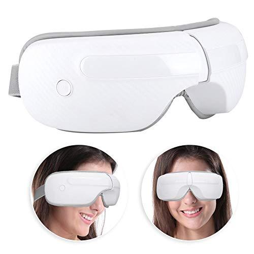 Massaggio elettrico senza fili con maschera per gli occhi, massaggiatore pieghevole per il riscaldamento degli occhi con pneumatico per maschera...