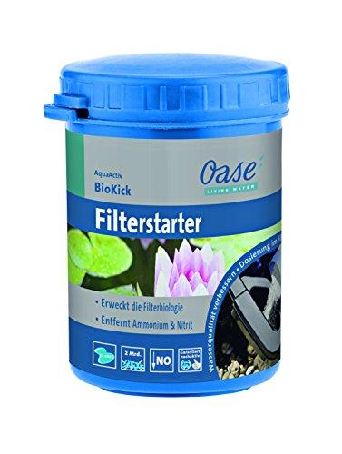 OASE 43150 Wasseraufbereiter AquaActiv BioKick 100 ml, silber | Aufbereiter | Teichpflege | Filterstarter | Starterbakterien