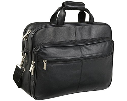 amerileather leather briefcases Black Leather Laptop Softside Briefcase (#48)