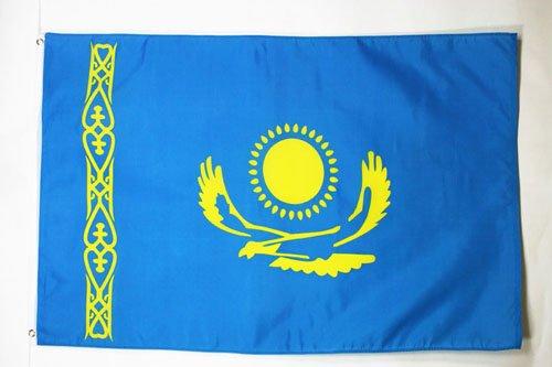 AZ FLAG Flagge KASACHSTAN 90x60cm - Republik KASACHSTAN Fahne 60 x 90 cm - flaggen Top Qualität