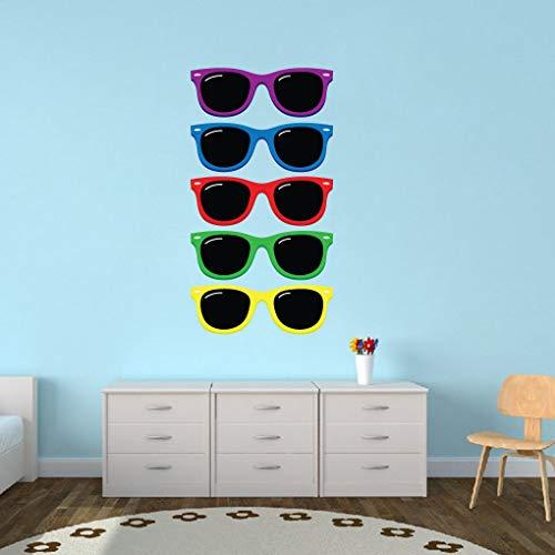 Kleurrijke zonnebril bedrukt muursticker // Kids Room // Zomer // Afneembare muurdecoratie // Muursticker // Vinyl muursticker Eenvoudig aan te brengen en te verwijderen