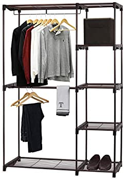 Simple Houseware Freestanding Clothes Garment Organizer Closet Bronze