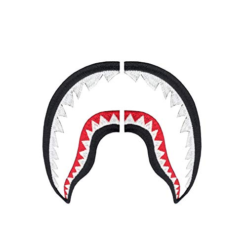 Set of Shark Teeth Patches Combo Sneaker Iron On Embroidered