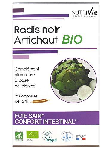 Nutrivie Radis Noir Artichaut Bio 20 Ampoules