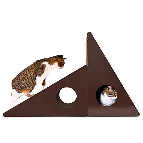 Qazwsxedc para Mascotas Arañazos lzw Triangular Pared Corrugado Campana del Gato del Gato de Papel Junta Camada Molienda Garra Juguete