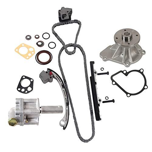 MOCA Timing Chain Kit & Oil Water Pump Compatible with 98-04 for NISSAN Frontier & 01-04 for NISSAN Xterra 2.4L L4 DOHC 16 Valve KA24DE