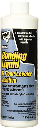 DAP 7079835082 Bonding Liq Floor Lev Additive Raw Building Material, 1 Pint, White