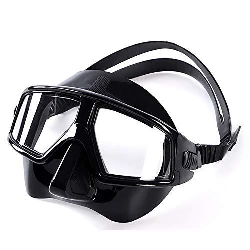 Yaunli Tauchmaske Tauchmaske Tauchmaske for Erwachsene Jugendsporttauchen Taucherbrillen Große 120 ° Weitwinkel Full Face Schnorchelmaske (Farbe : Black, Size : M)