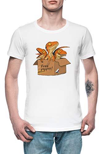 Adoptieren EIN Raubvogel - Raubvogel Herren T-Shirt Tee Weiß Men's White T-Shirt