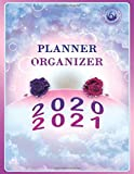 Planner Organizer 2020 2021: April 2020- March 2021 1 Year hourly Daily Weekly Monthly journal Planner,With...