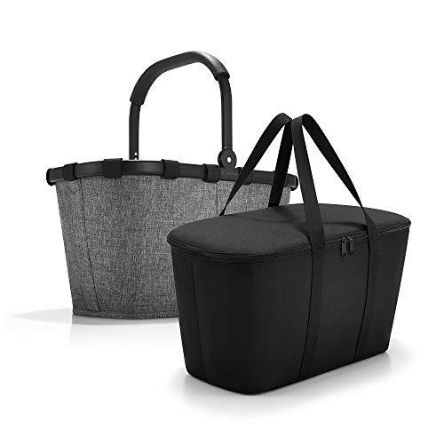 Set carrybag BK + coolerbag UH, BKUH Einkaufskorb mit passender Kühltasche, Twist Silver + Black (70527003)