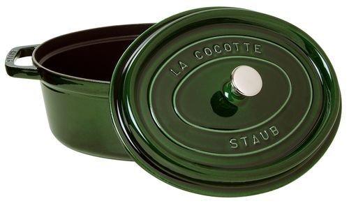 staubストウブ「ピコココットオーバルバジルグリーン23cm」両手鋳物ホーロー鍋IH対応【日本正規販売品】LaCocotteOval40509-646