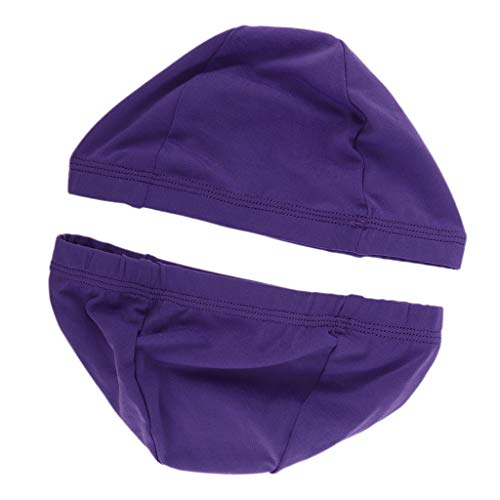 perfeclan 2pcs Chapeaux Confortables De Perruque De Dôme Pour Faire Des Perruques Le Bonnet De Tissage En Nylon Respirant élastique De Tissage - Violet