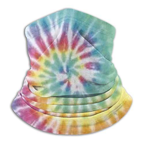Towel&bag Tie Dye - Bufanda unisex multifuncional de microfibra a prueba de polvo, color negro