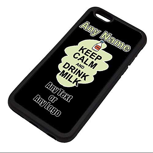 UNIGIFT Gepersonaliseerd geschenk - Houd kalm drinken melk iPhone Case (Voedselontwerp) elke naam bericht Unieke Apple TPU Cover - Carry Poster Party Dieet Snack Bier Wijn Koffie Chocolade Sap Coke