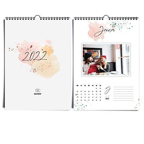 heaven+paper Calendario fotografico 2021 Happy Splash I con acquerello creativo e di alta...