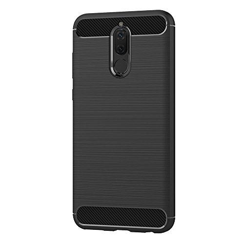 AICEK Huawei Mate 10 Lite Hülle, Schwarz Silikon Handyhülle für Huawei Mate 10 Lite Schutzhülle Karbon Optik Soft Case (5,9 Zoll) - 2