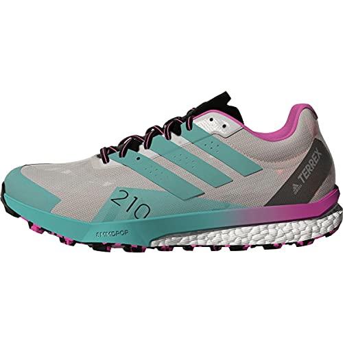 adidas Terrex Speed Ultra Hiking Shoes FTWR White/Acid Mint/Screaming Pink 6.5 B (M)