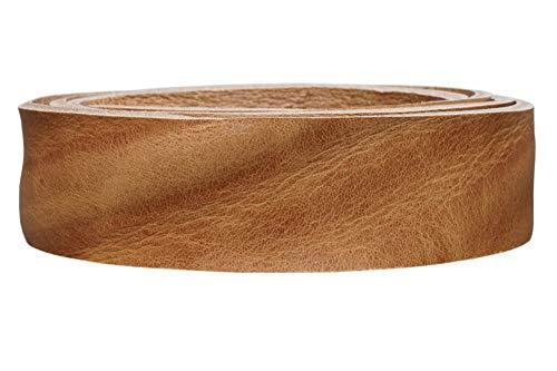 Vollrindleder Lederriemen 'Canyon', exlusives Gürtelleder, pflanzlich gegerbt, Farbe:natur, Breite:2.5cm breit