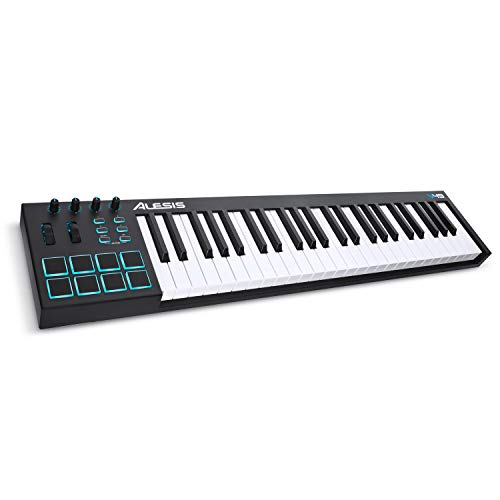 Alesis V49 - 49 Key USB MIDI Keyboard Controller with 8 Backlit Pads, 4 Assignable Knobs and Buttons, Plus a Professional Software Suite with ProTools, First Included