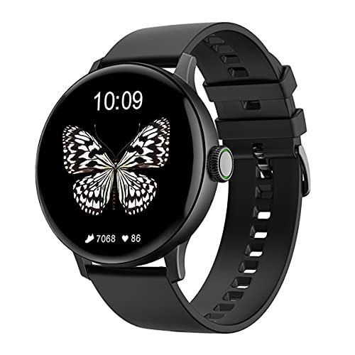 QNMM Reloj Inteligente DT2 + para Mujer, IP68 Resistente Al Agua Reloj Bricolaje Reloj Llamada con Bluetooth Rastreador Ejercicios Monitor Ritmo Cardíaco Reloj Inteligente Deportivo, para iOS/Android